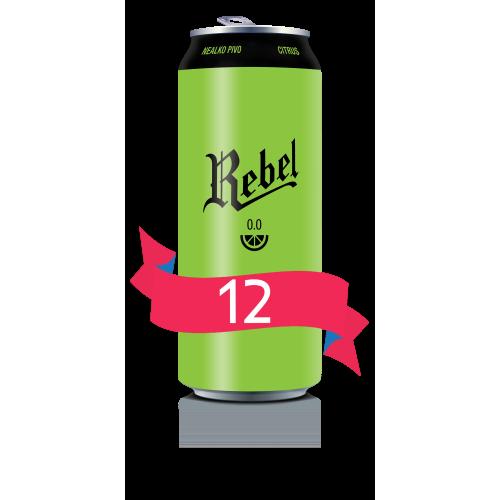 REBEL 0.0 CITRUS - vez 12x0,5l